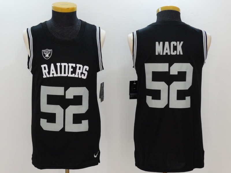 Nike Raiders 52 Khalil Mack Black Color Rush Men's Tank Top