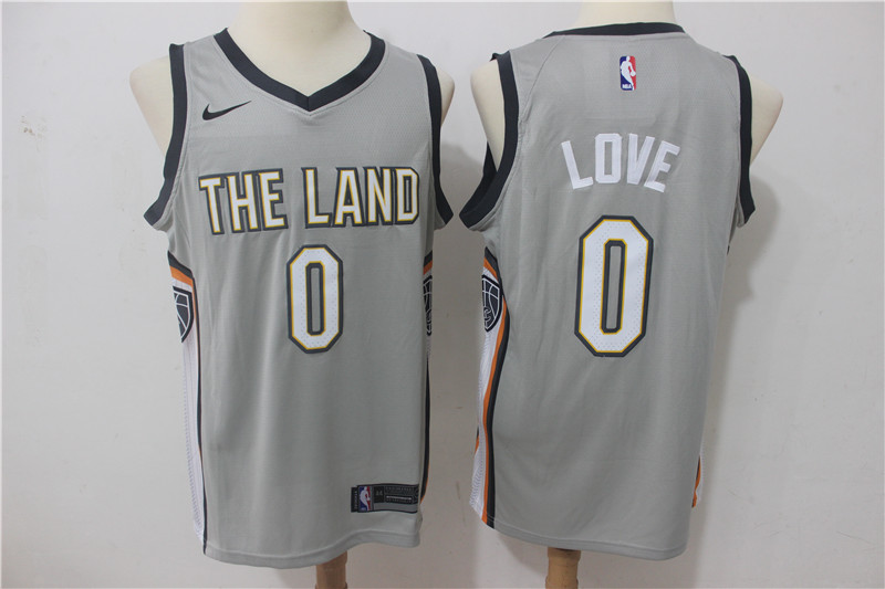 Cavaliers 0 Kevin Love Gray Nike City Edition Swingman Jersey