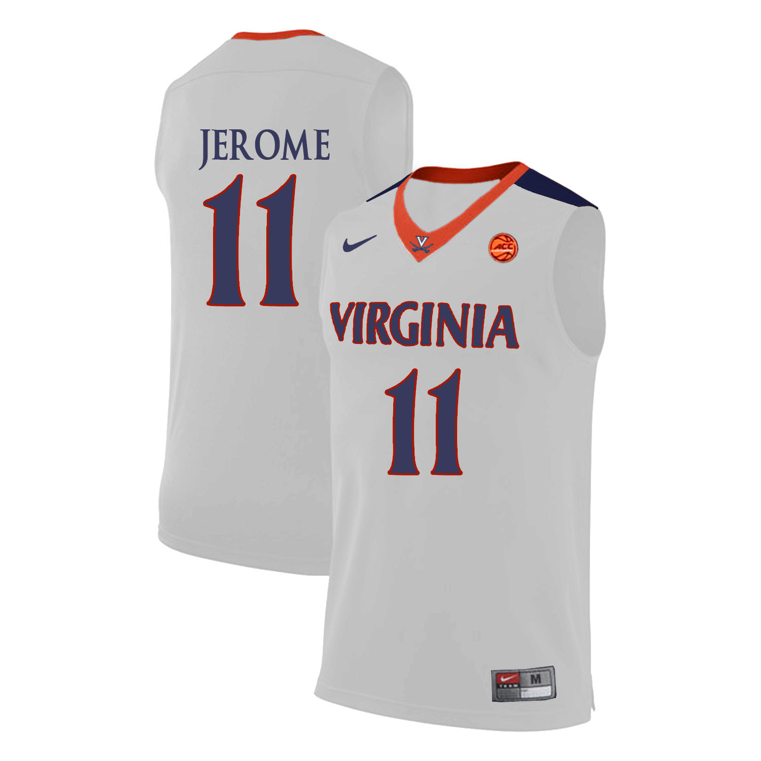 Virginia Cavaliers 11 Ty Jerome White College Basketball Jersey