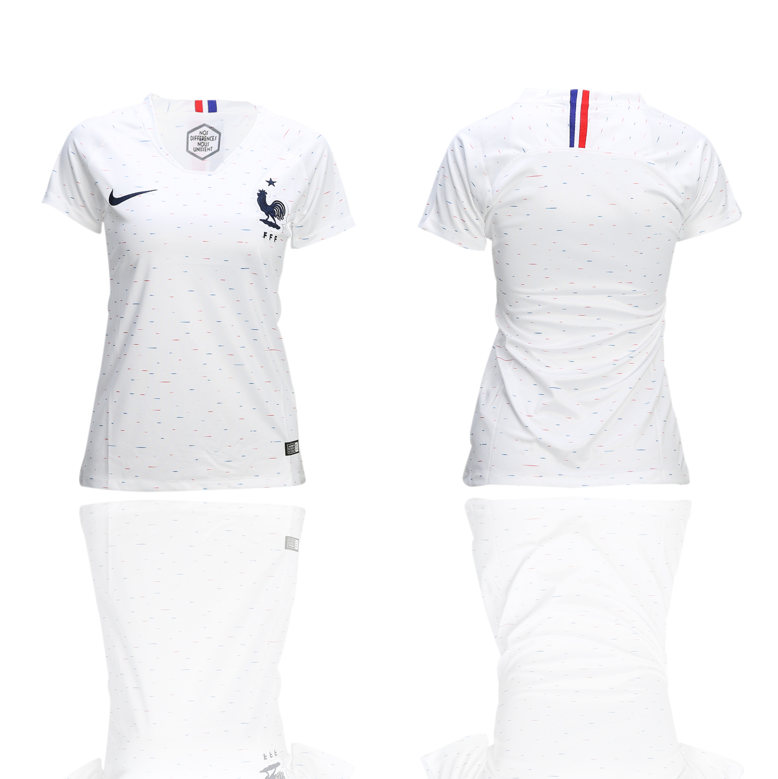 France Away Woman 2018 FIFA World Cup Soccer Jersey