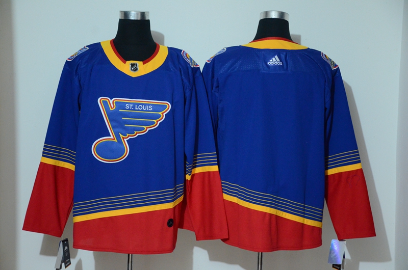 Blues Blank Blue Adidas Jersey
