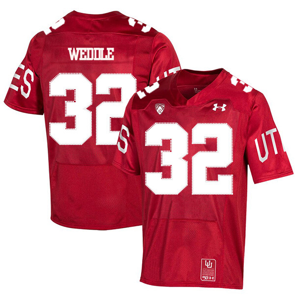 Utah Utes 32 Eric Weddle Red 150th Anniversary College Football Jersey