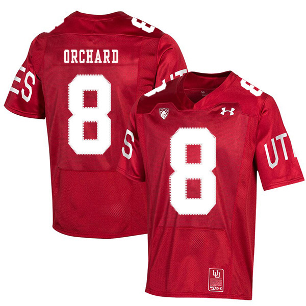 Utah Utes 8 Nate Orchard Red 150th Anniversary College Football Jersey