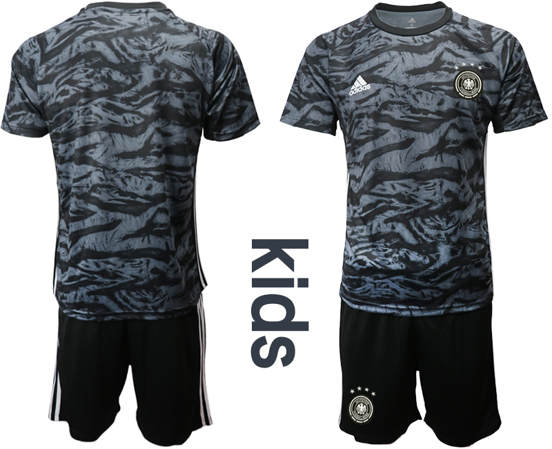 2019-20 Germany Black Goalkeeper Youth Soccer Jersey