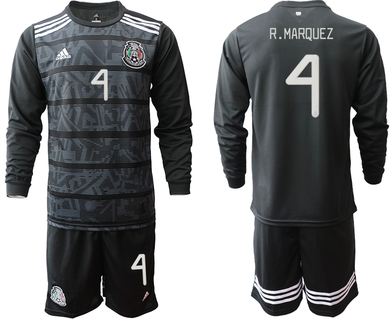 2019-20 Mexico 4 R.MARQUEZ Home Long Sleeve Soccer Jersey