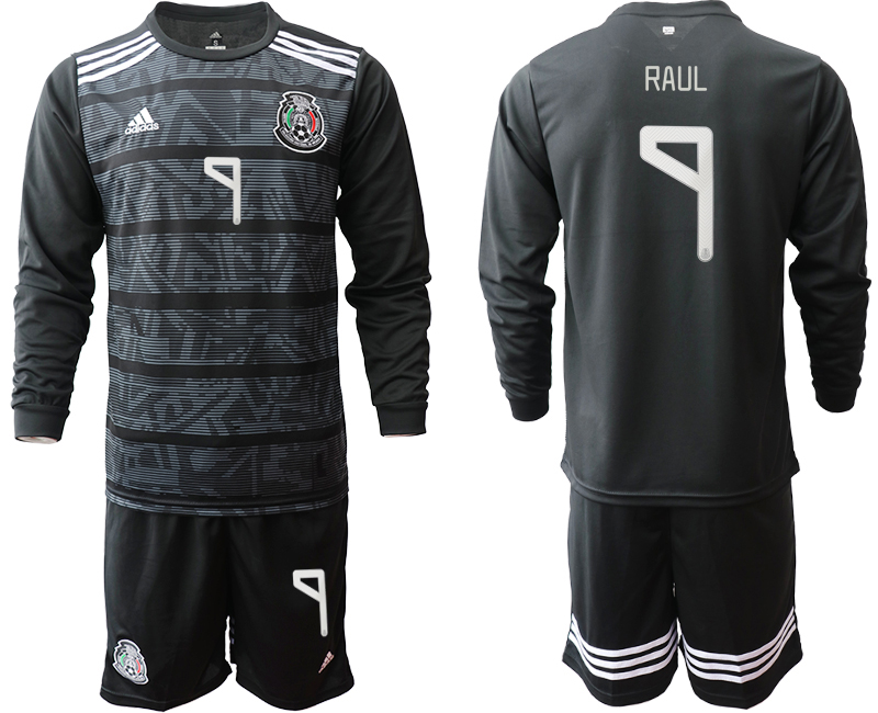 2019-20 Mexico 9 RAUL Home Long Sleeve Soccer Jersey