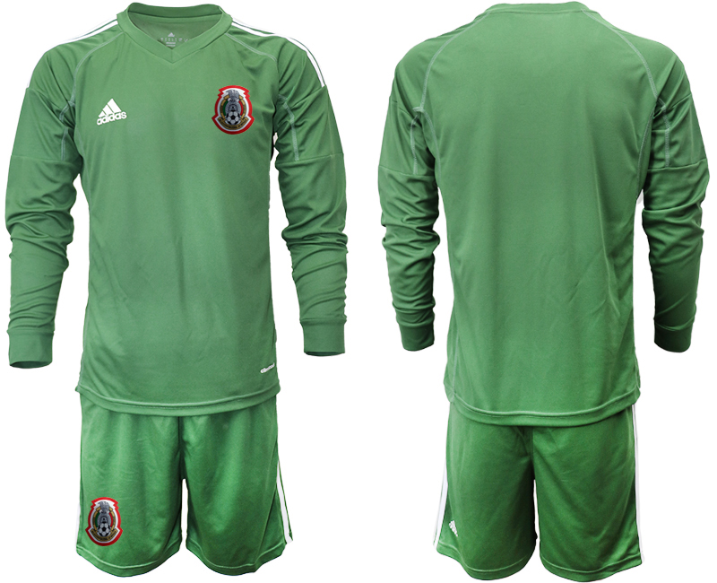 2019-20 Mexico Army Green Long Sleeve Goalkeeper Soccer Jersey