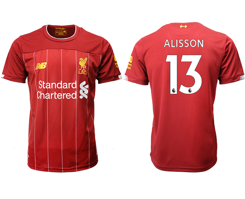 2019-20 Liverpool 13 ALISSON Home Thailand Soccer Jersey