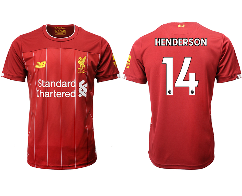 2019-20 Liverpool 14 HENDERSON Home Thailand Soccer Jersey