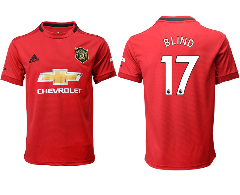2019-20 Manchester United 17 BLIND Home Thailand Soccer Jersey