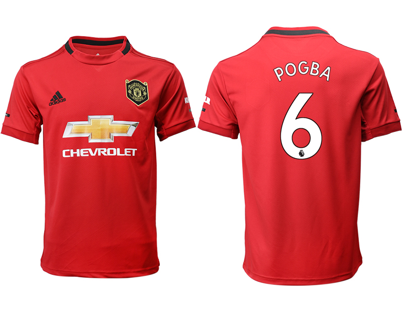 2019-20 Manchester United 6 POGBA Home Thailand Soccer Jersey