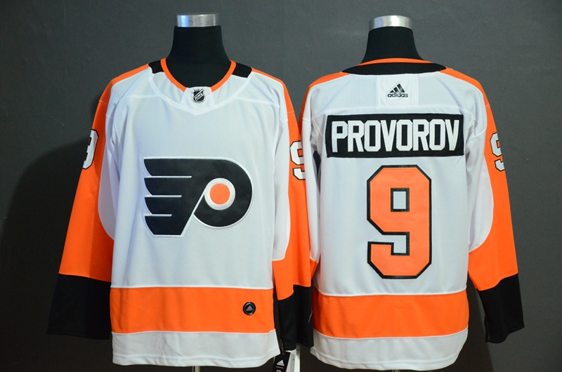 Flyers 9 Ivan Provorov White Adidas Jersey