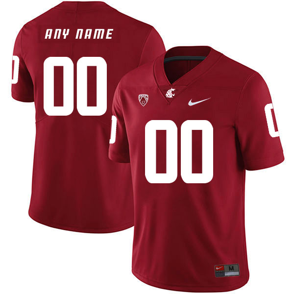 Washington State Cougars Customized Red College Football Jersey