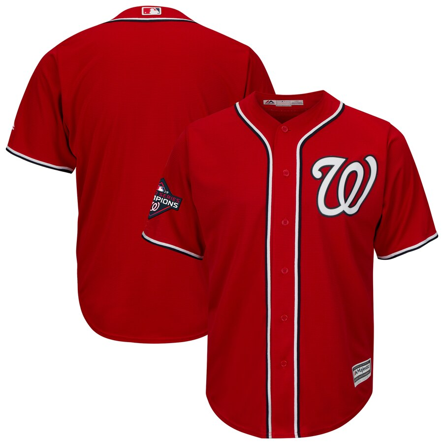 Nationals Blank Red 2019 World Series Champions Cool Base Jersey