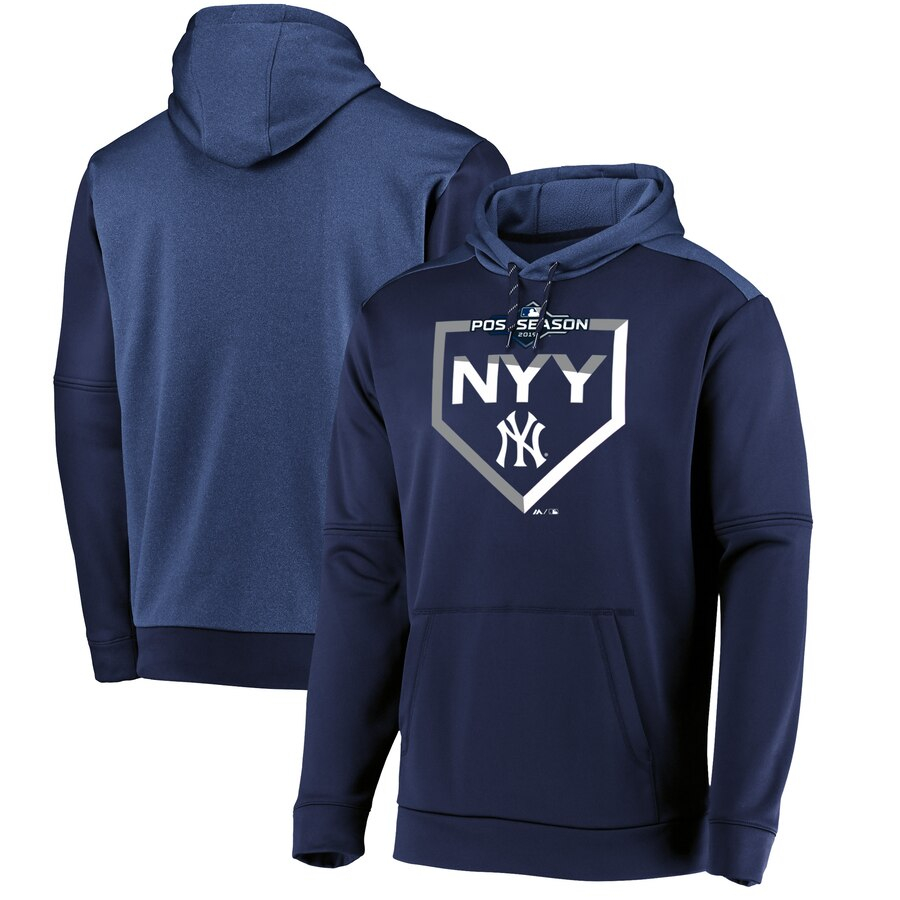 New York Yankees Majestic 2019 Postseason Dugout Authentic Pullover Hoodie Navy