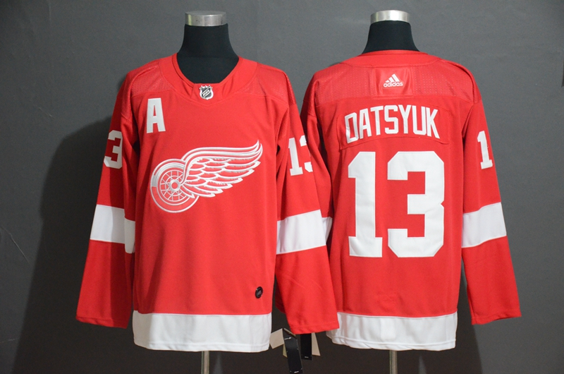 Red Wings 13 Pavel Datsyuk Red Adidas Jersey