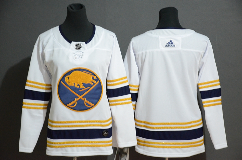 Sabres Black White Women 50th anniversary Adidas Jersey