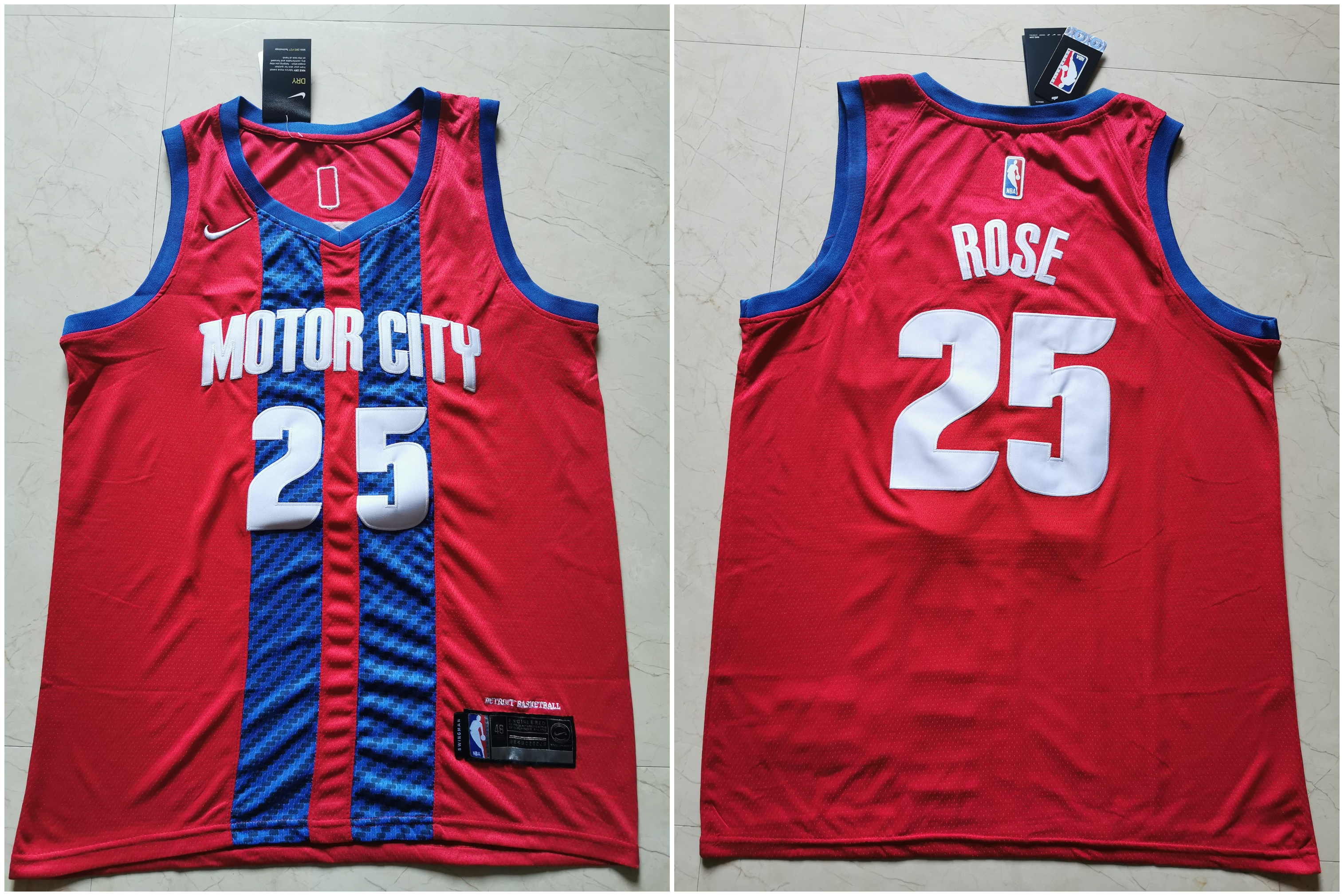 76ers 25 Ben Simmons Red 2019-20 City Edition Nike Swingman Jersey