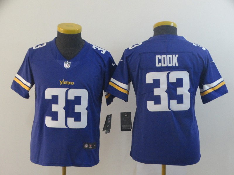 Nike Vikings 33 Dalvin Cook Purple Youth Vapor Untouchable Player Limited Jersey