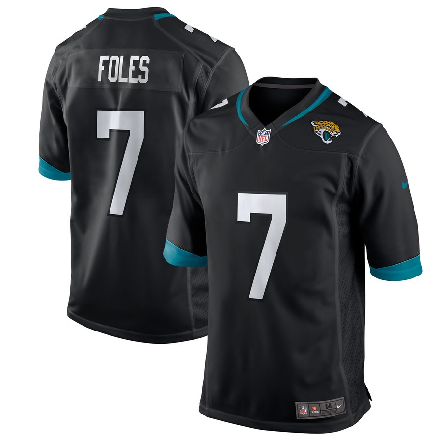 Nike Jaguars 7 Nick Foles Black Game Jersey