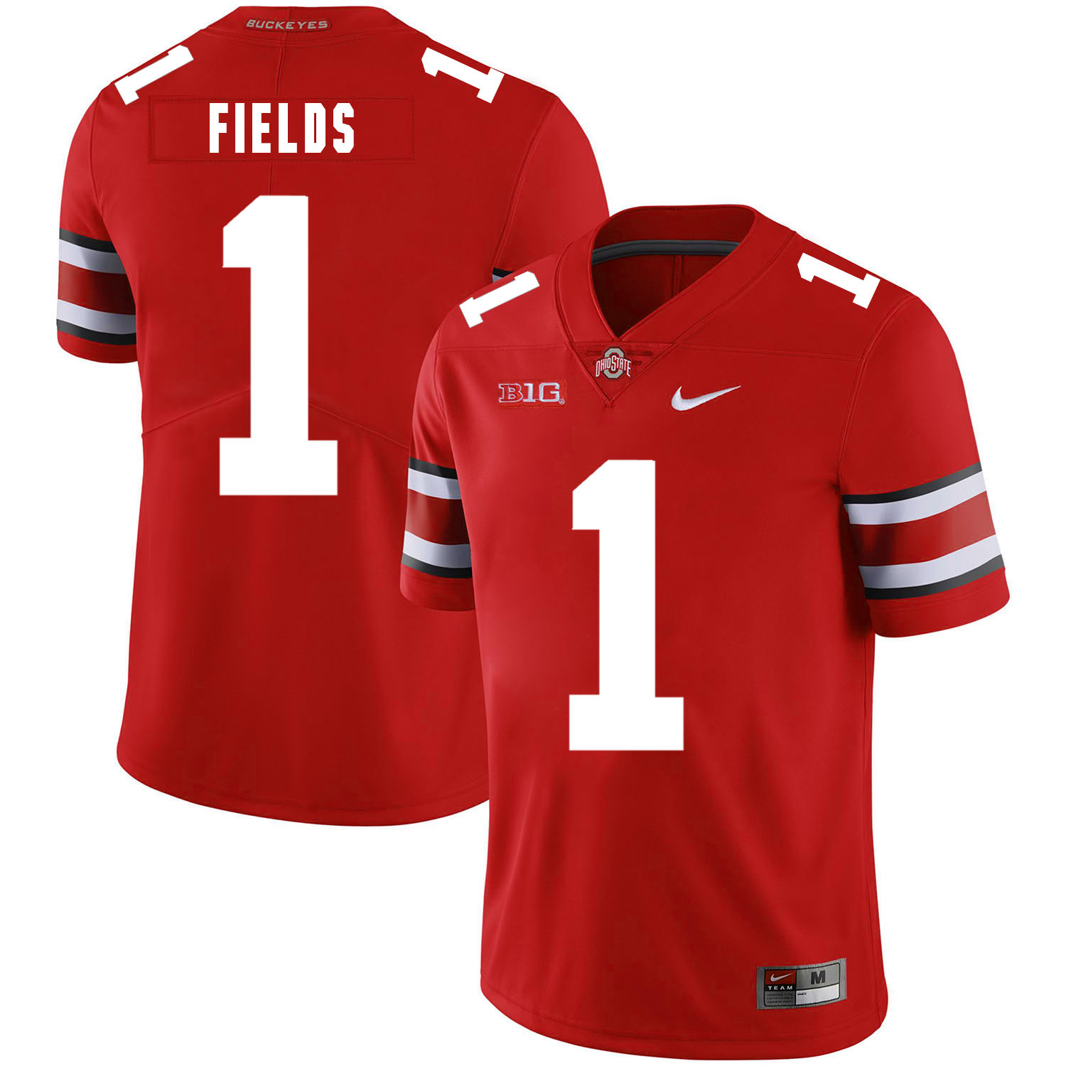 Ohio State Buckeyes 1 Justin Fields Red Nike College Football Limited Jersey