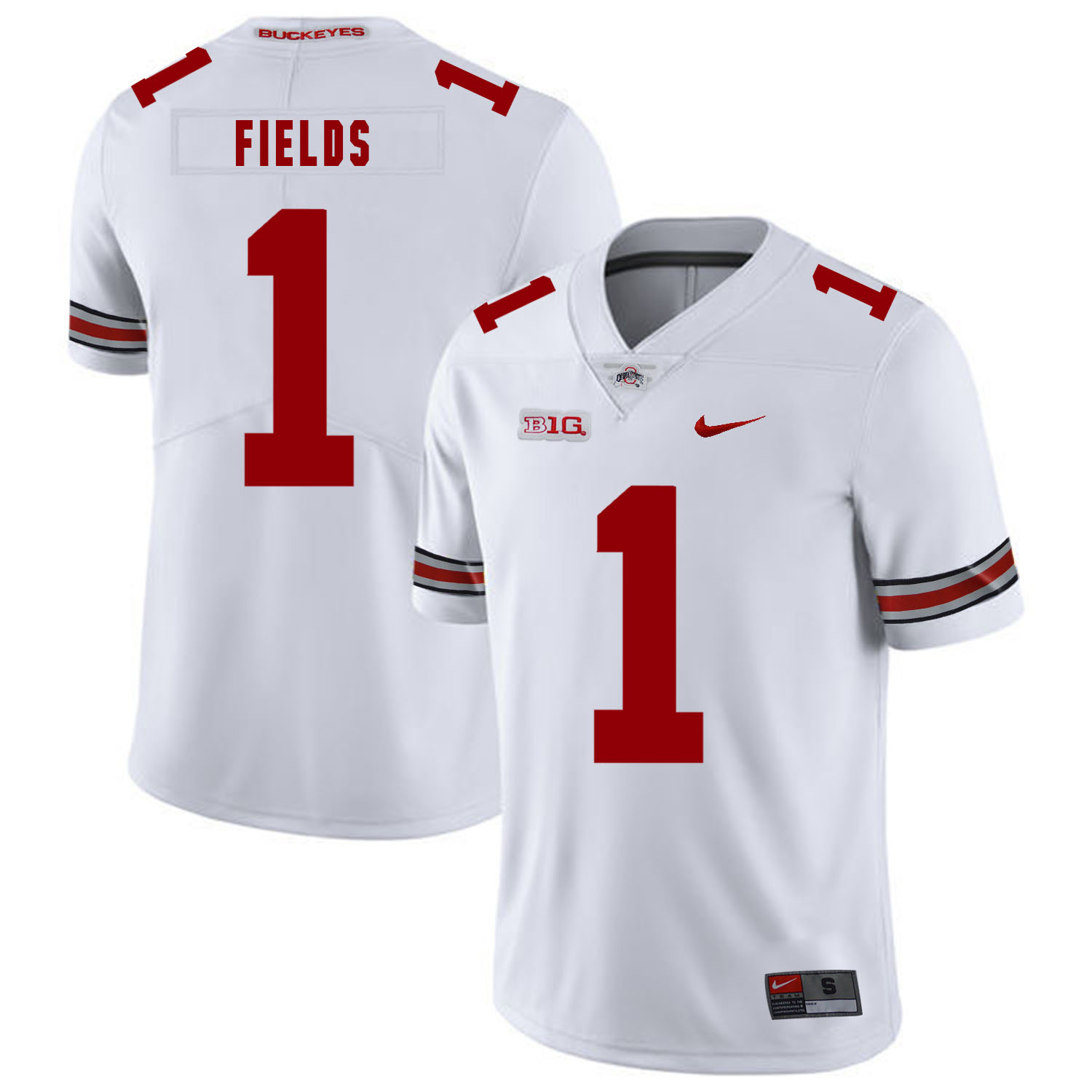 Ohio State Buckeyes 1 Justin Fields White Nike College Football Limited Jersey