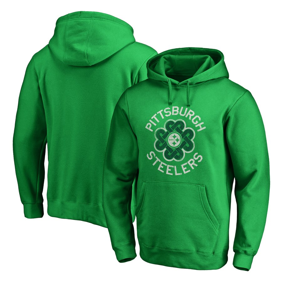 Pittsburgh Steelers NFL Pro Line by Fanatics Branded St. Patrick's Day Luck Tradition Pullover Hoodie Kelly Green