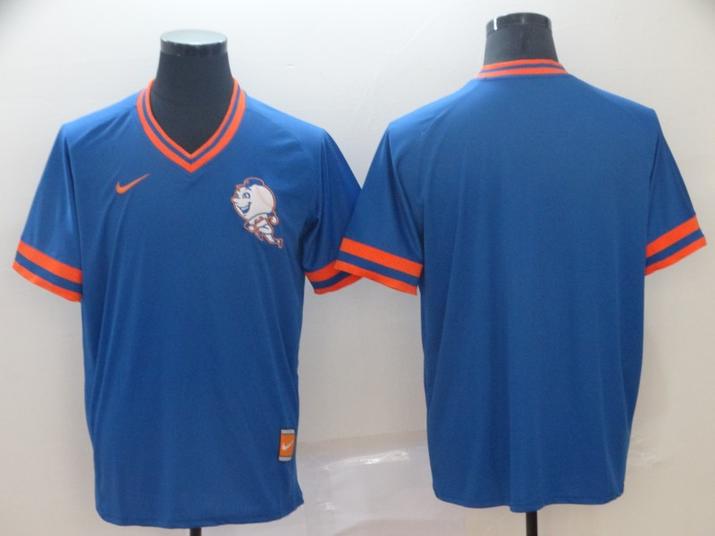 Mets Blank Blue Throwback Jersey