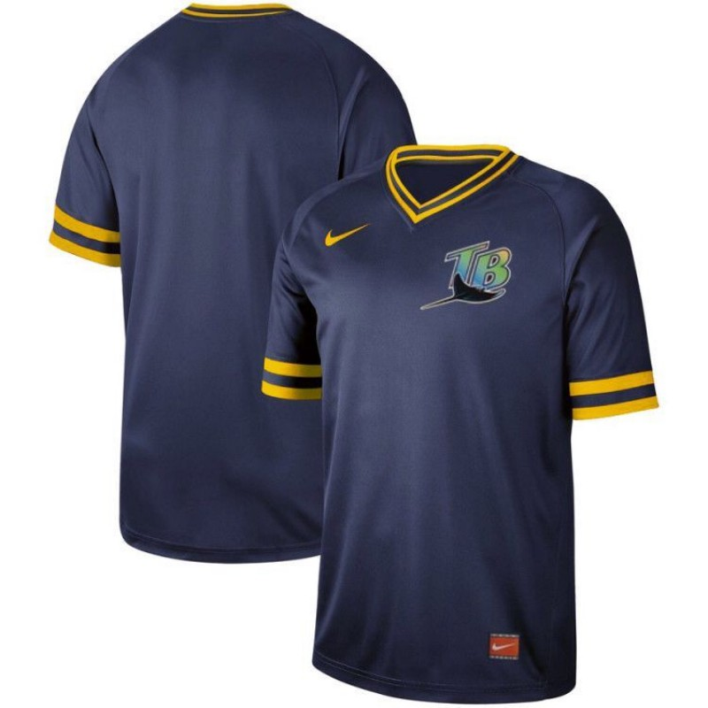 Rays Blank Navy Throwback Jersey
