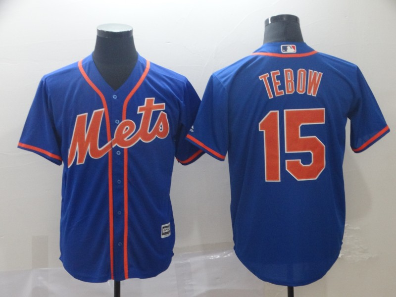 Mets 15 Tim Tebow Blue Cool Base Jersey