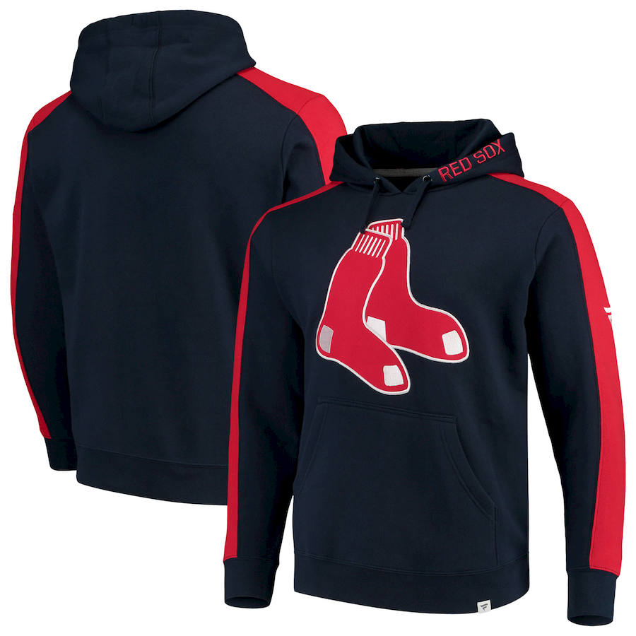 Boston Red Sox Fanatics Branded Alternate Logo Iconic Fleece Pullover Hoodie Navy & Red