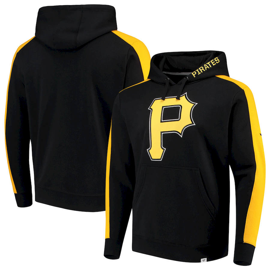 Pittsburgh Pirates Fanatics Branded Iconic Fleece Pullover Hoodie Black & Gold