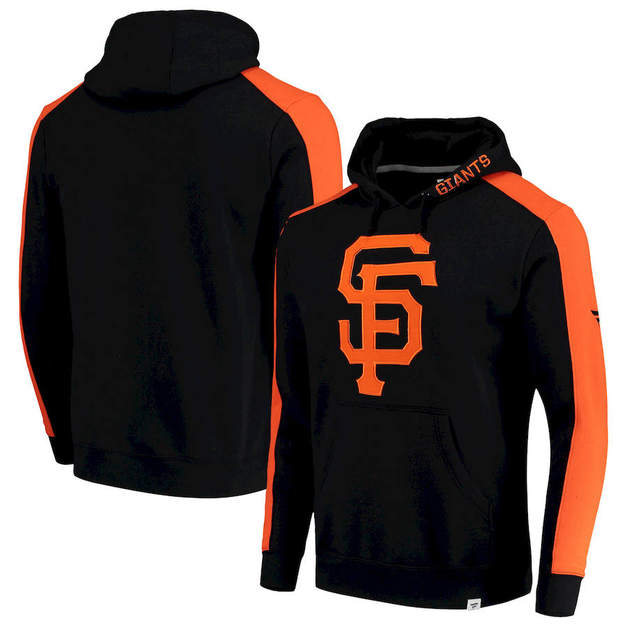 San Francisco Giants Fanatics Branded Iconic Fleece Pullover Hoodie Black & Orange