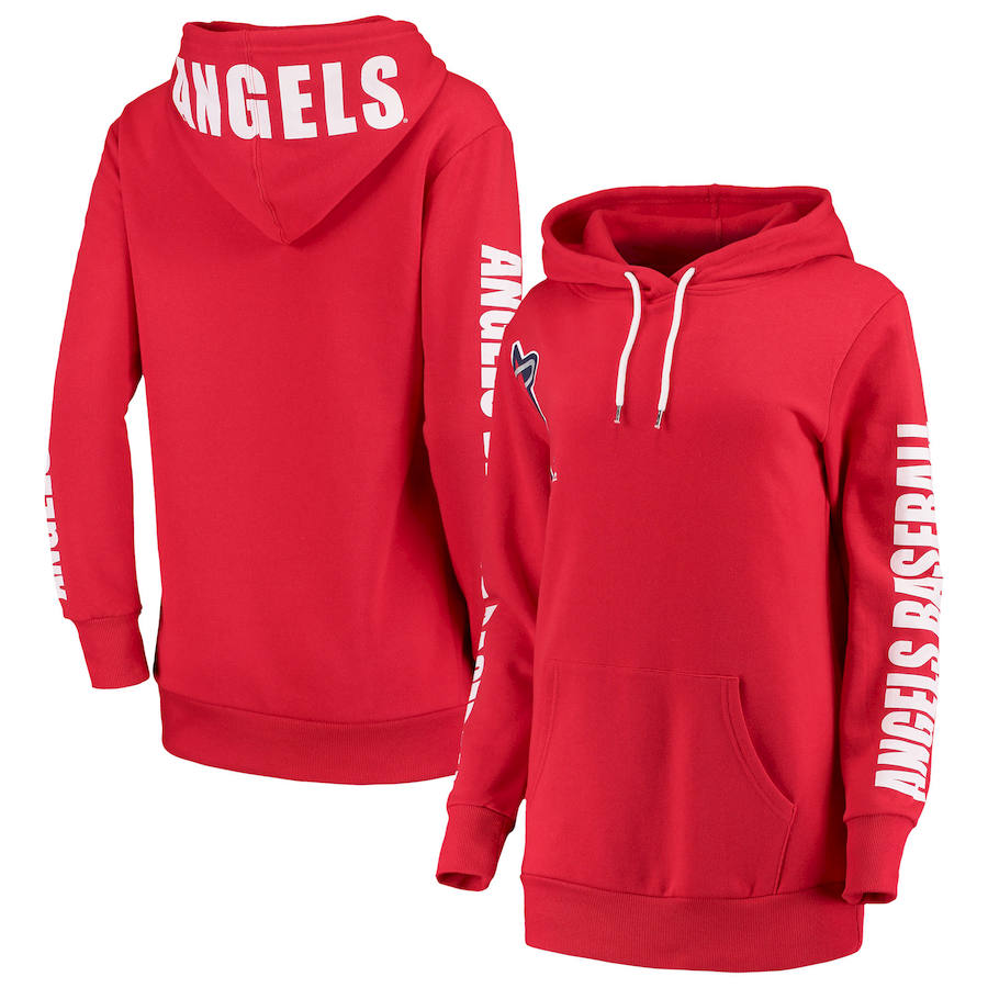 Los Angeles Angels G III 4Her by Carl Banks Women's 12th Inning Pullover Hoodie Red