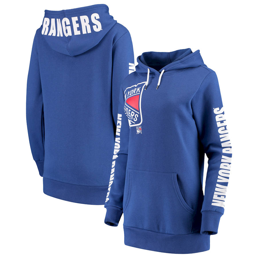 New York Rangers G III 4Her by Carl Banks Women's 12th Inning Pullover Hoodie Blue