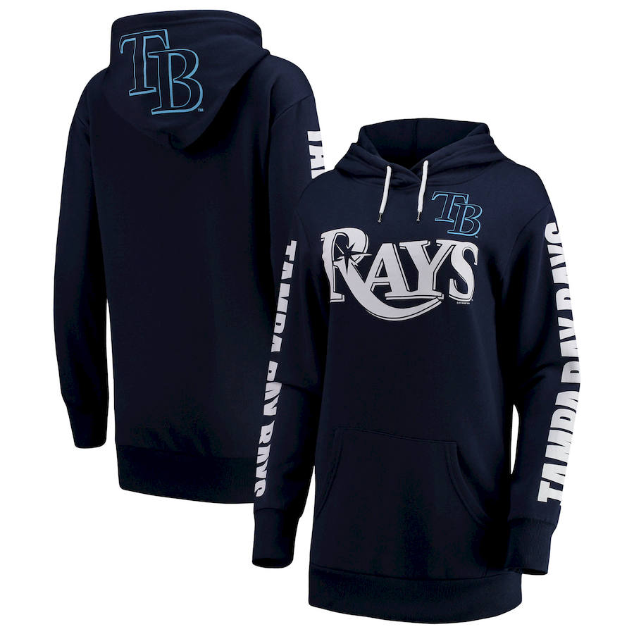 Tampa Bay Rays G III 4Her by Carl Banks Women's Extra Innings Pullover Hoodie Navy