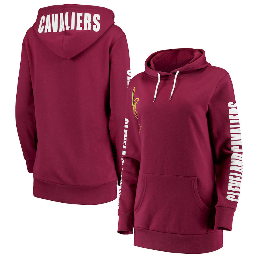 Cleveland Cavaliers G III 4Her by Carl Banks Women's Overtime Pullover Hoodie Wine