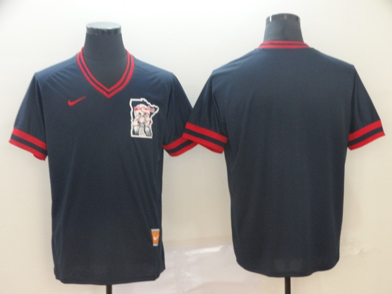 Twins Blank Navy Throwback Jersey