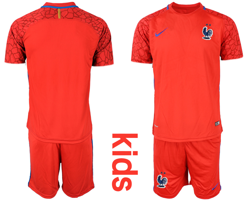 2019-20 France Red Youth Goalkeeper Soccer Jersey
