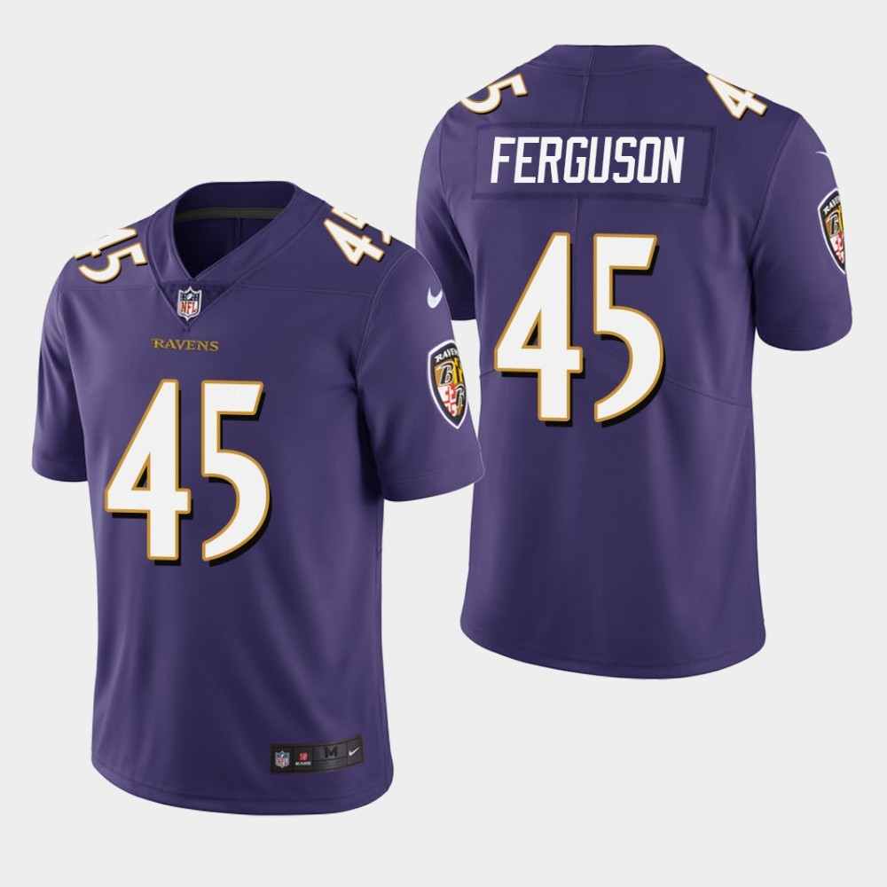 Nike Ravens 45 Jaylon Ferguson Purple 2019 NFL Draft First Round Pick Vapor Untouchable Limited Jersey