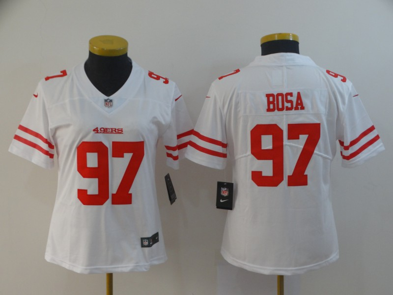Nike 49ers 97 Nick Bosa White Women 2019 NFL Draft First Round Pick Vapor Untouchable Limited Jersey