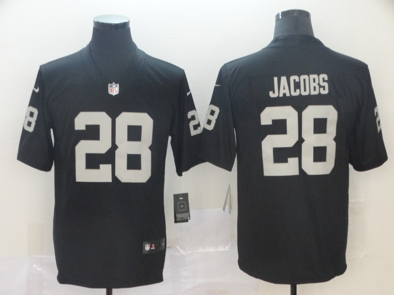 Nike Raiders 28 Josh Jacobs Black 2019 NFL Draft First Round Pick Vapor Untouchable Limited Jersey