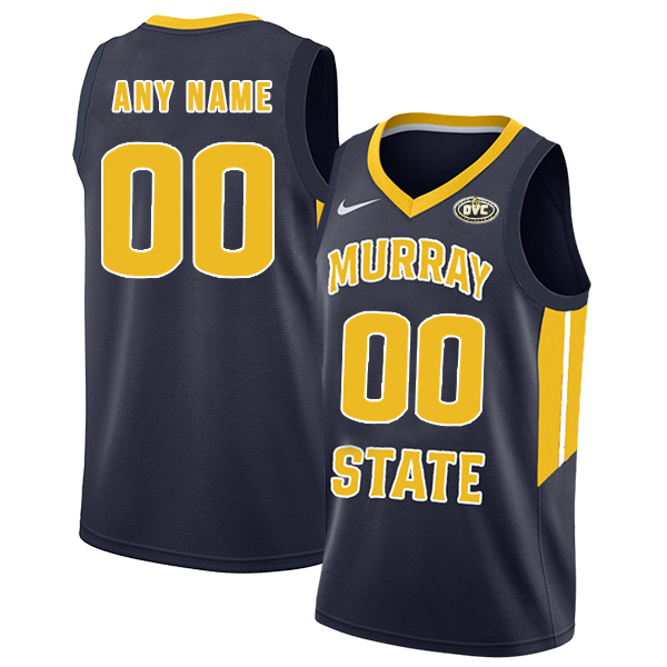 Murray State Racers Customized Navy College Basketball Jersey