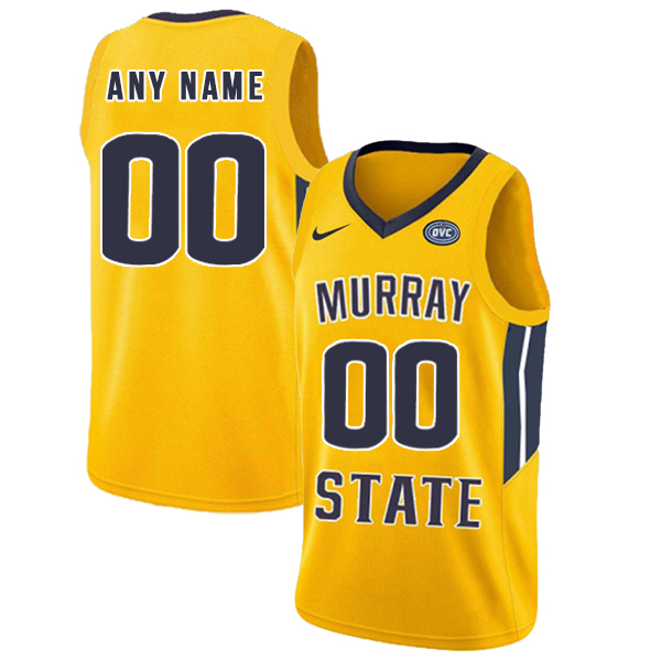 Murray State Racers Customized Yellow College Basketball Jersey