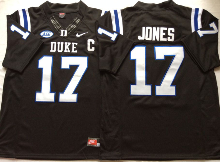 Duke Blue Devils 17 Daniel Jones Black College Football Jersey