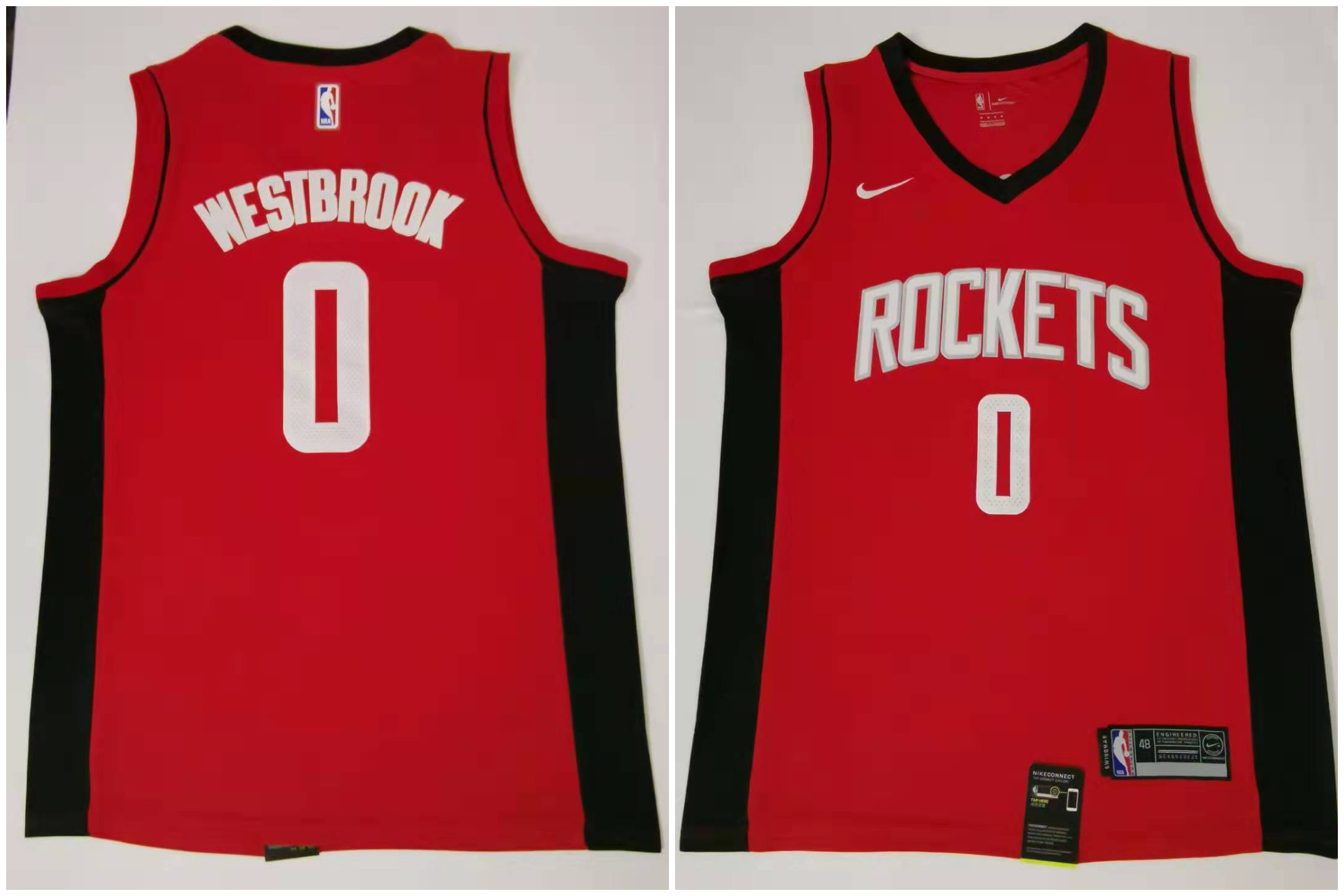 Rockets 0 Russell Westbrook Red Nike Swingman Jersey