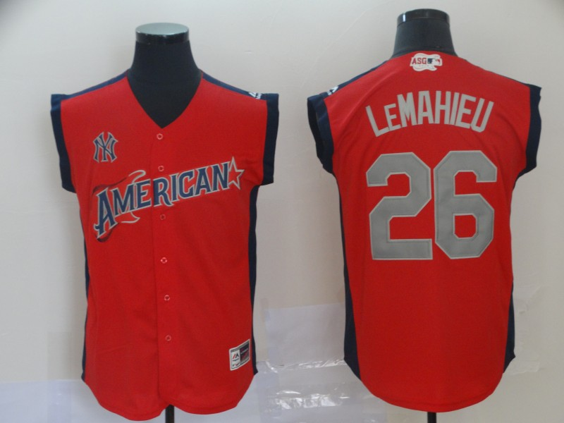 American League 26 DJ LeMahieu Red 2019 MLB All-Star Game Player Jersey