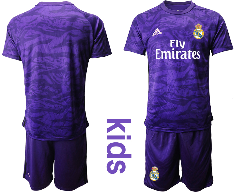 2019-20 Real Madrid Purple Youth Goalkeeper Soccer Jersey