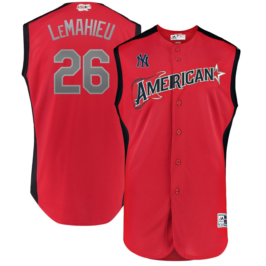 American League 26 DJ LeMahieu Red Youth 2019 MLB All-Star Game Player Jersey