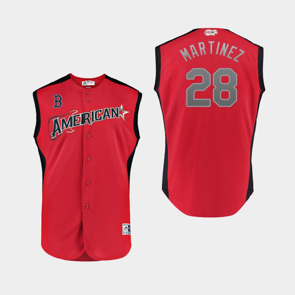 American League 28 J.D. Martinez Red Youth 2019 MLB All-Star Game Player Jersey